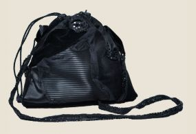 black purse, evening purse, чёрная сумка